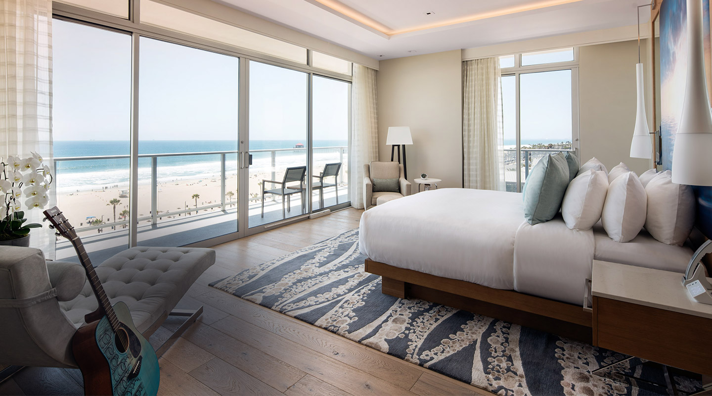 Oceanfront Hotel Room in Huntington Beach