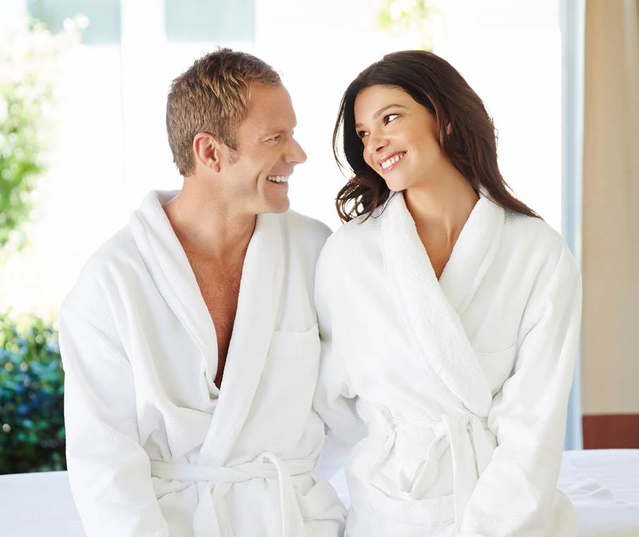 Couple in spa treatment