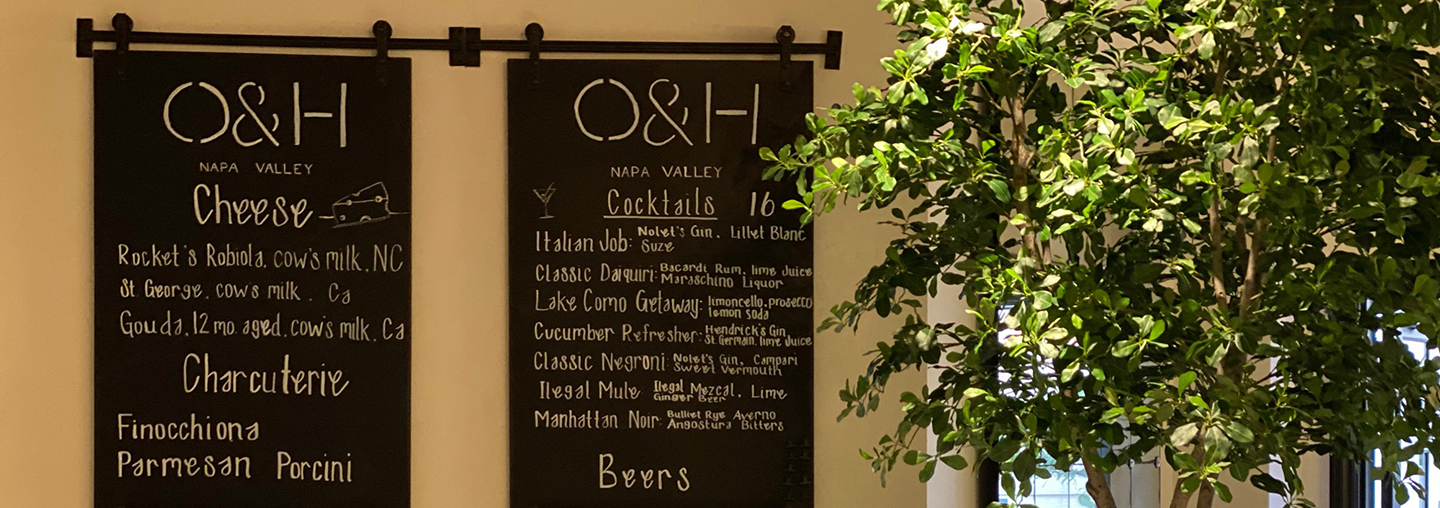 Olive and Hay Menu Sign