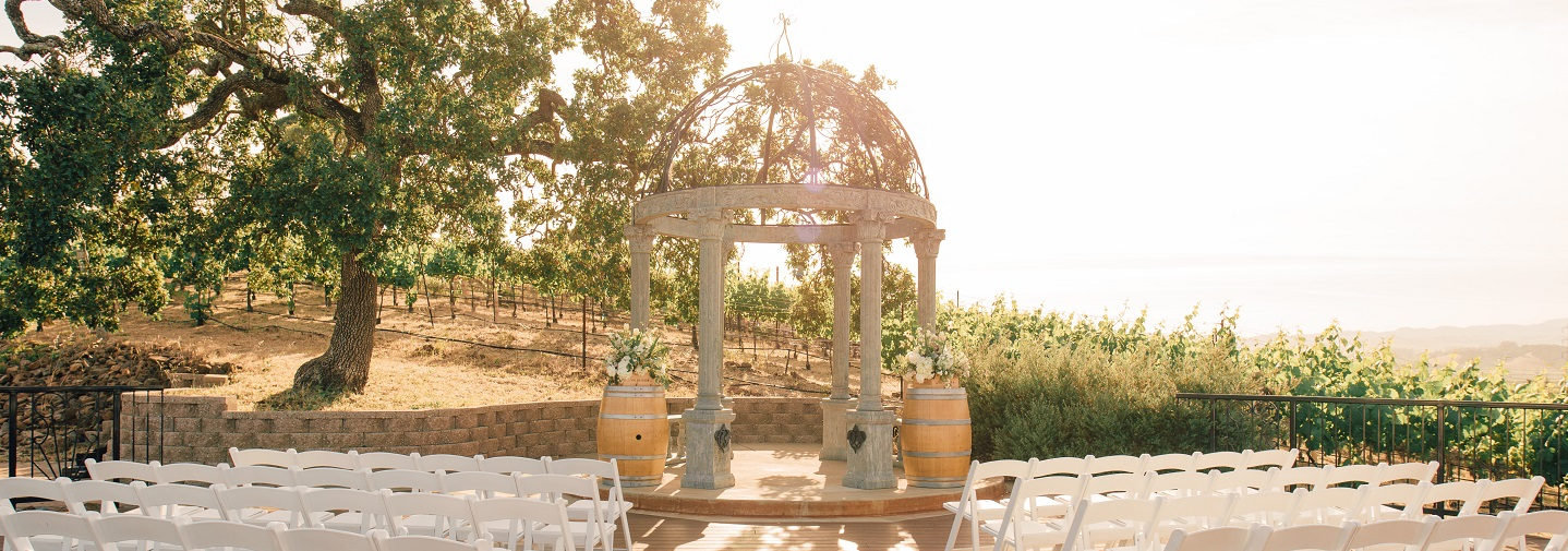 Vineyard Deck Wedding Ceremony Venue