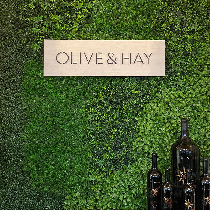 Olive and Hay Sign