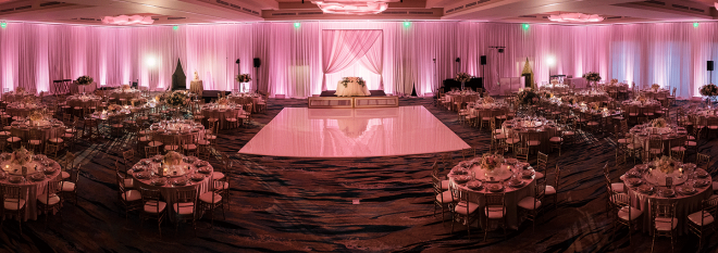 Mobile: Hotel Wedding Venue With Pink Lighting