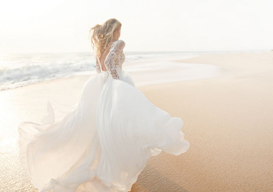 Dream beach wedding bride