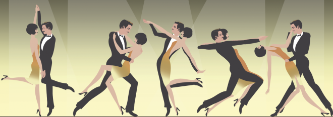 Mobile: Roaring 20s dancing art